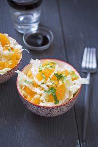 Salade de chou chinois aux clémentines et gingembre