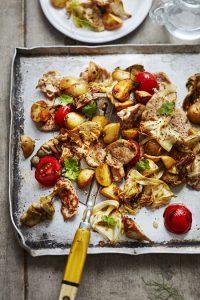 Sauté de porc, artichauts et pommes de terre à la plancha
