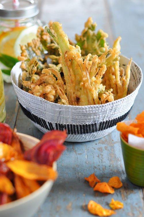 Chips et tempura