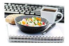 Dejeuner au bureau salade