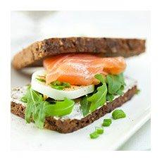 Dejeuner au bureau sandwiche