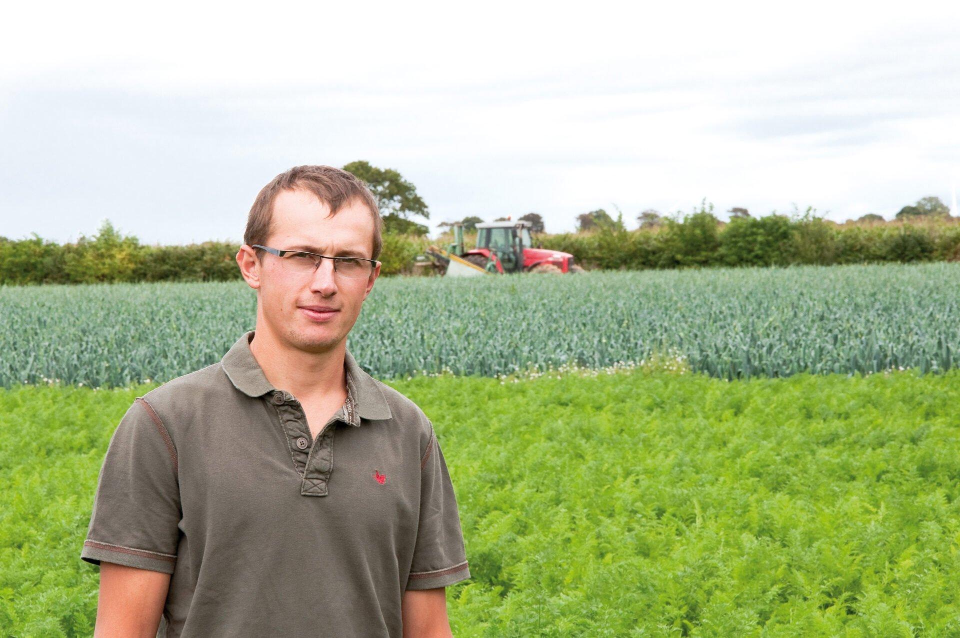 Etienne Godan, producteur de légumes