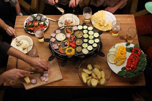 Raclette party fruits et légumes