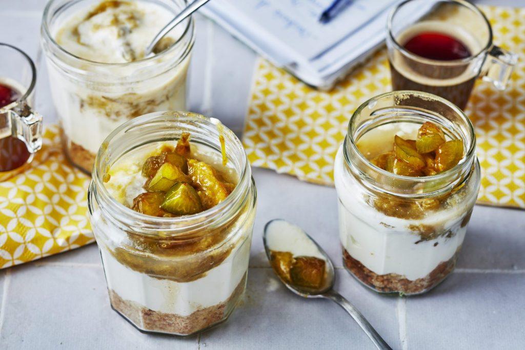 Trifle onctueux aux prunes