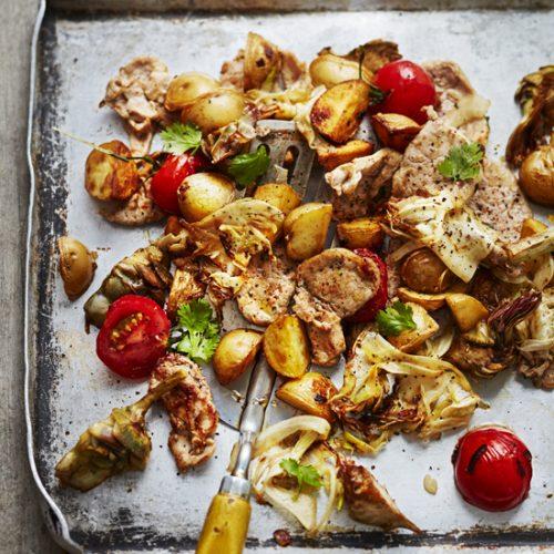 Plancha de légumes et pommes de terre