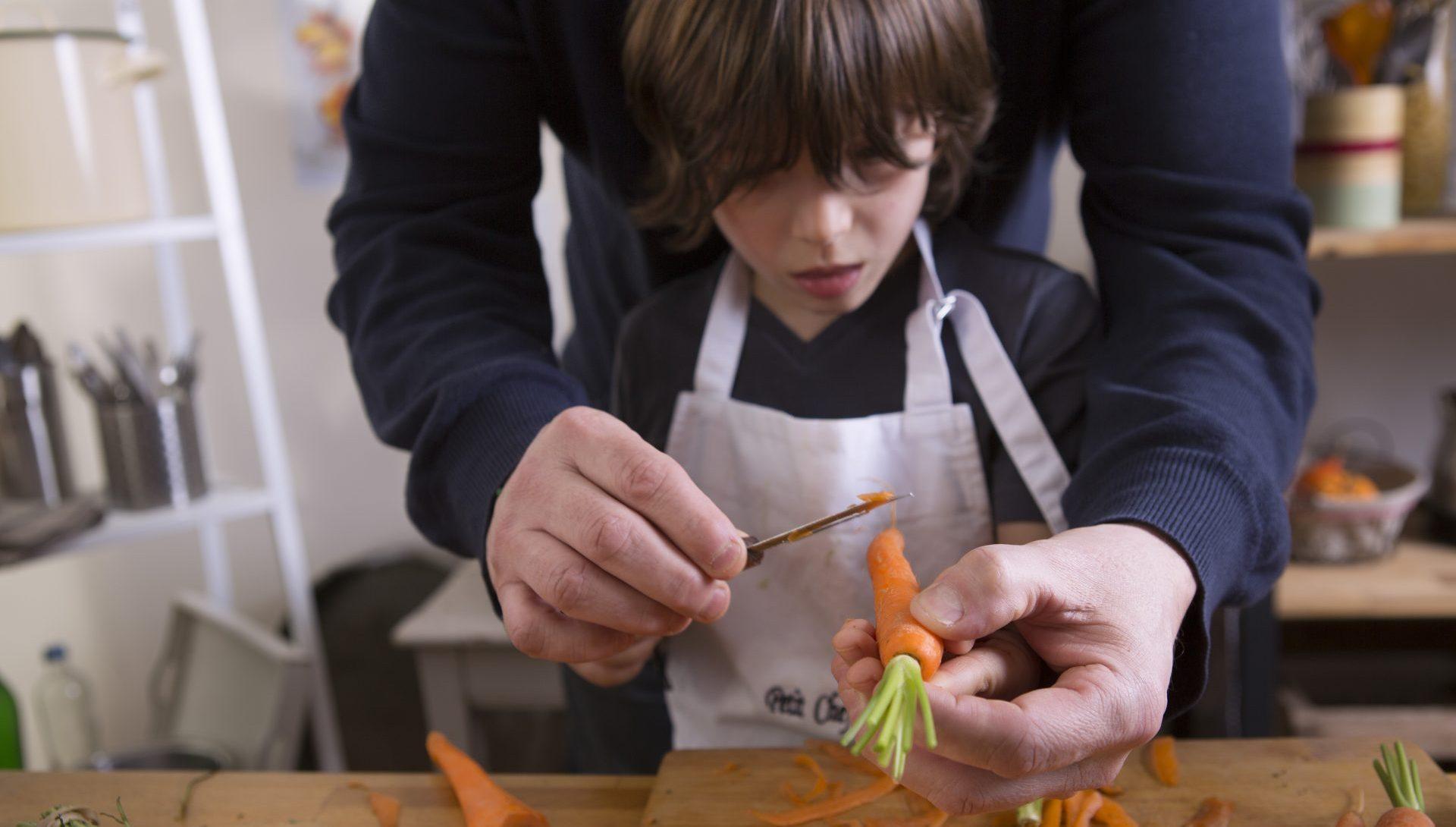 Cuisiner en famille les fruits et légumes frais