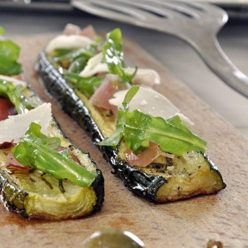 Tartine de courgettes à l'italienne